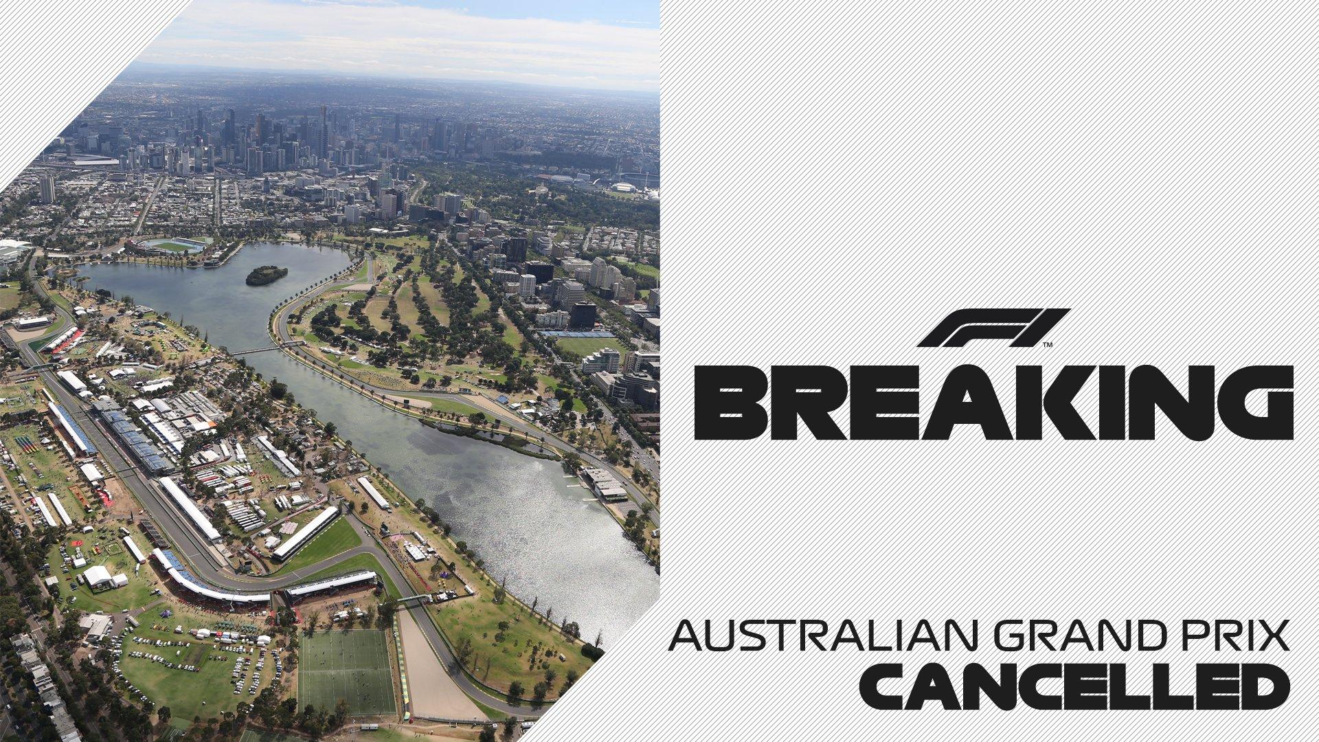 Le Grand Prix d'Australie est annulé