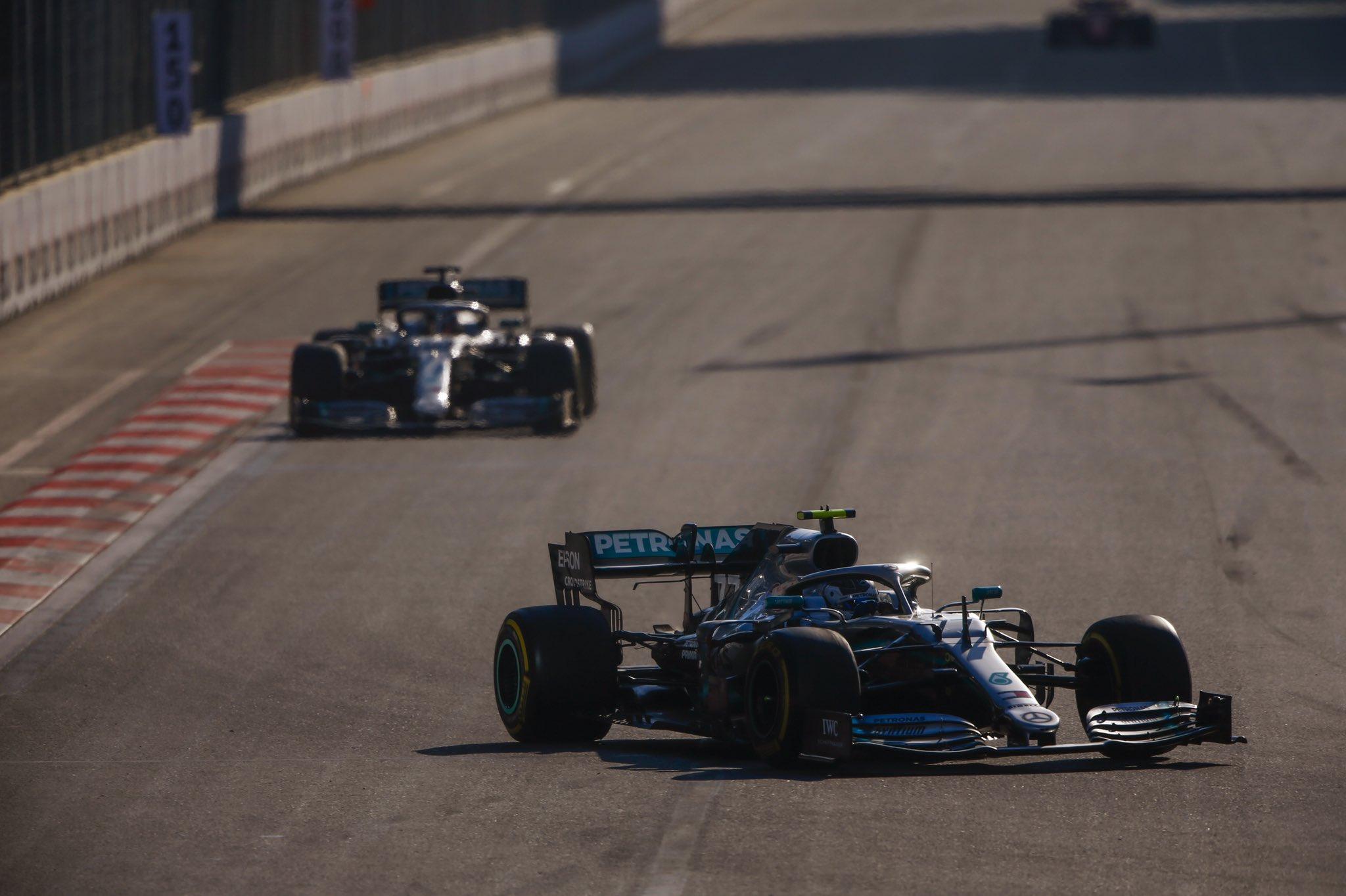 Victoire de Bottas et nouveau doublé Mercedes en Azerbaidjan