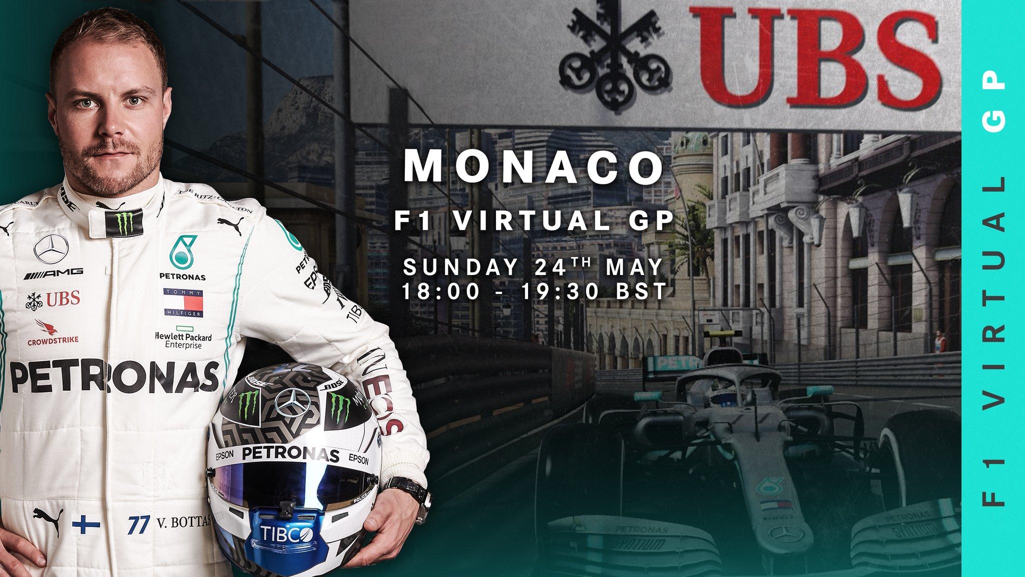 Bottas et Ocon se joignent au Grand Prix virtuel de Monaco