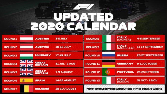 3 Grands Prix ajoutés au calendrier 2020