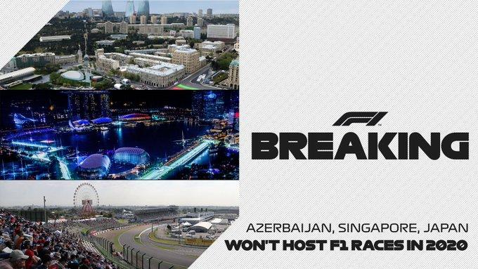 Annulation des Grands Prix de Singapour, Azerbaïdjan et Japon