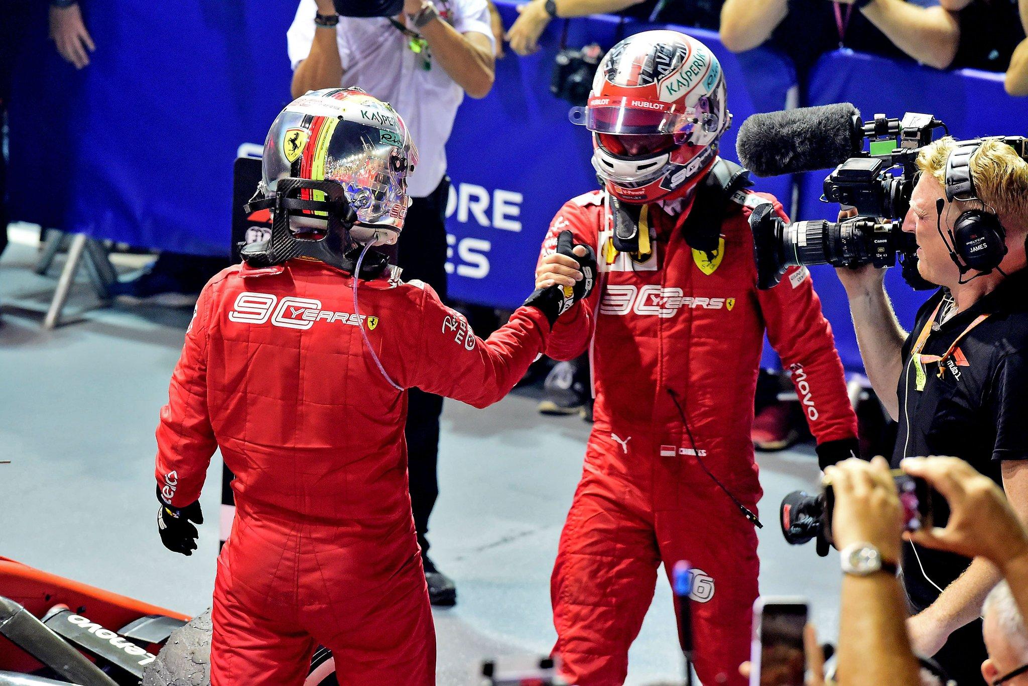 Première victoire de Vettel et premier doublé Ferrari de la saison
