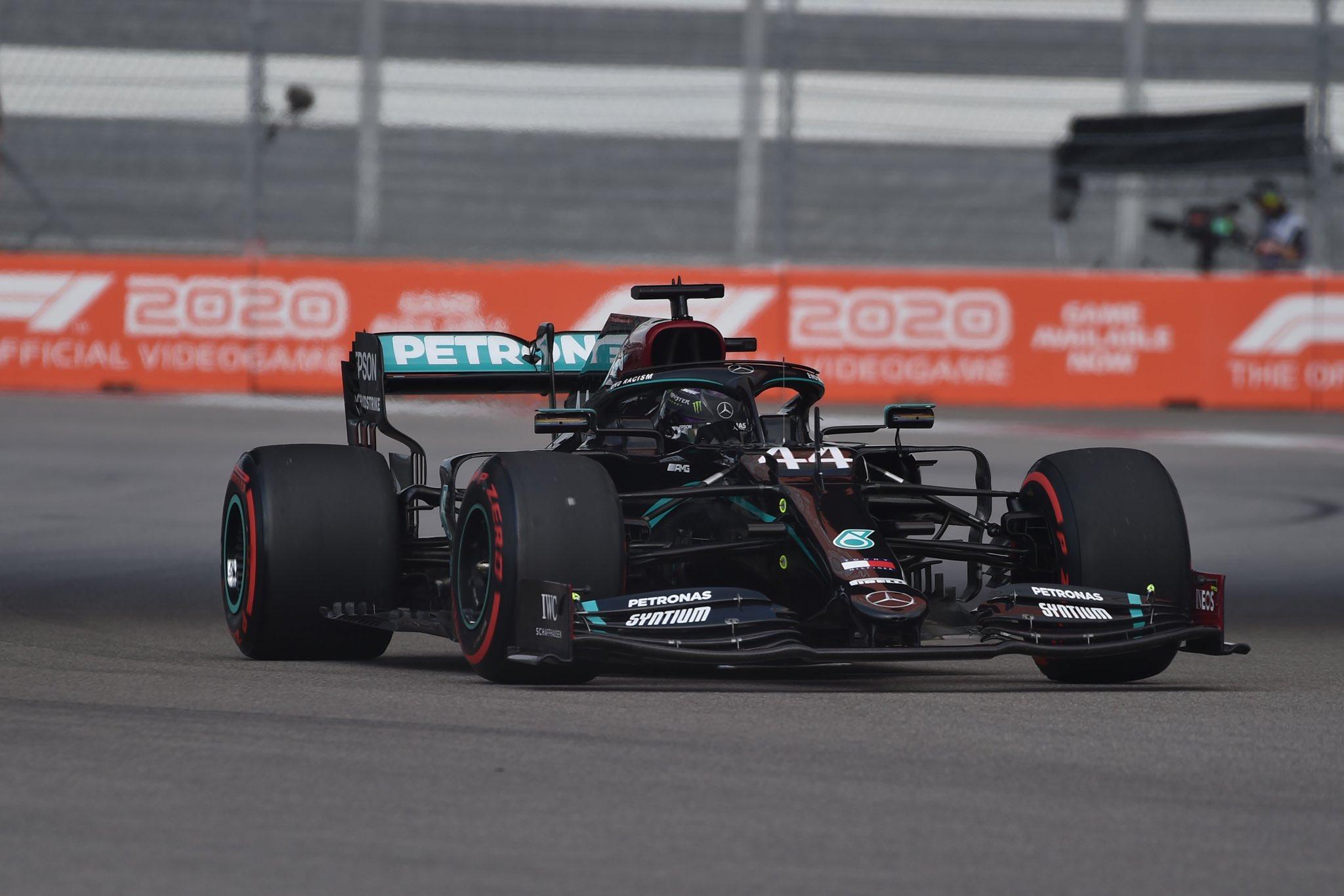 Hamilton s'élancera devant 2 pilotes en pneus mediums