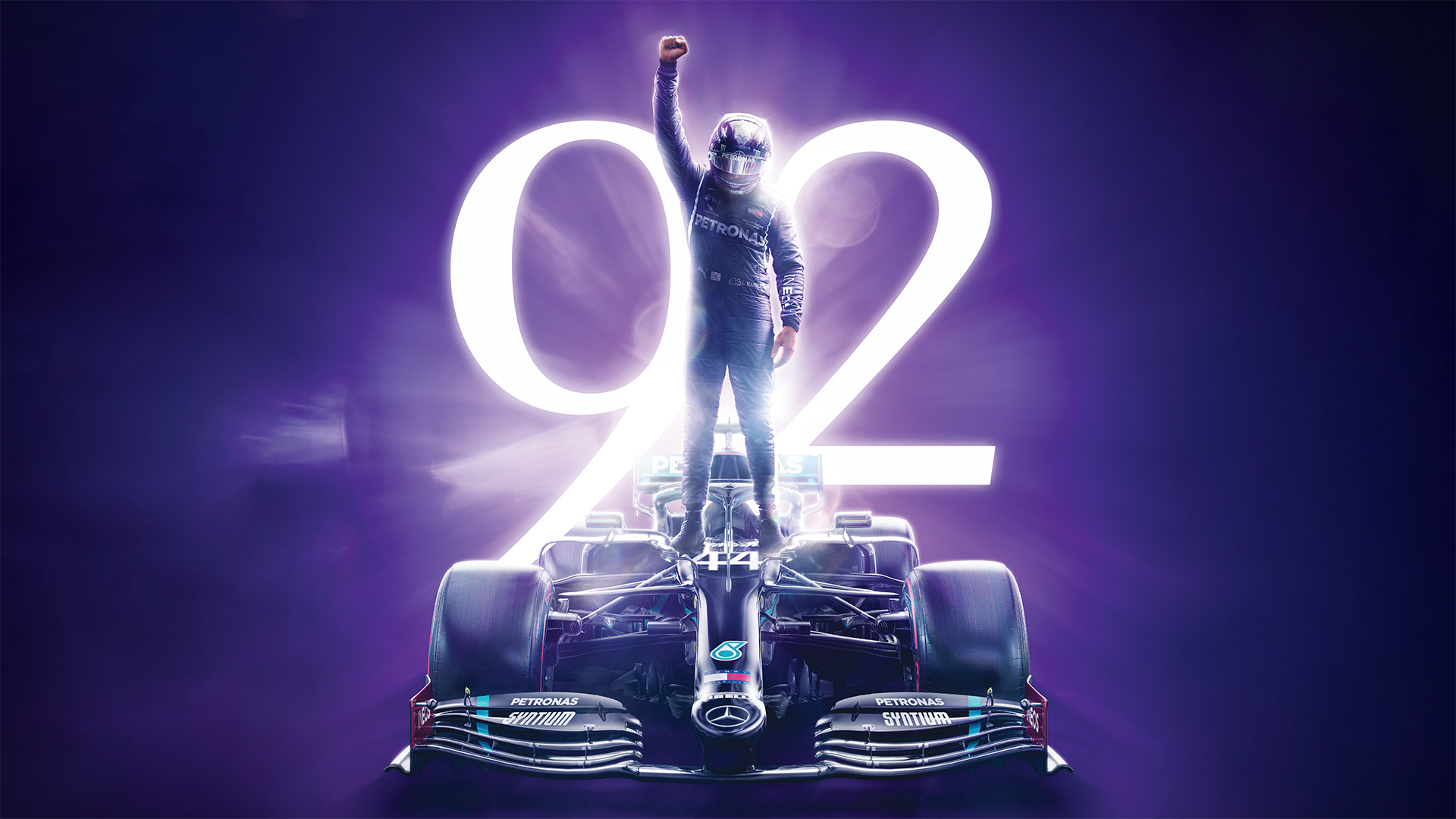 Hamilton célèbre sa 92ème victoire