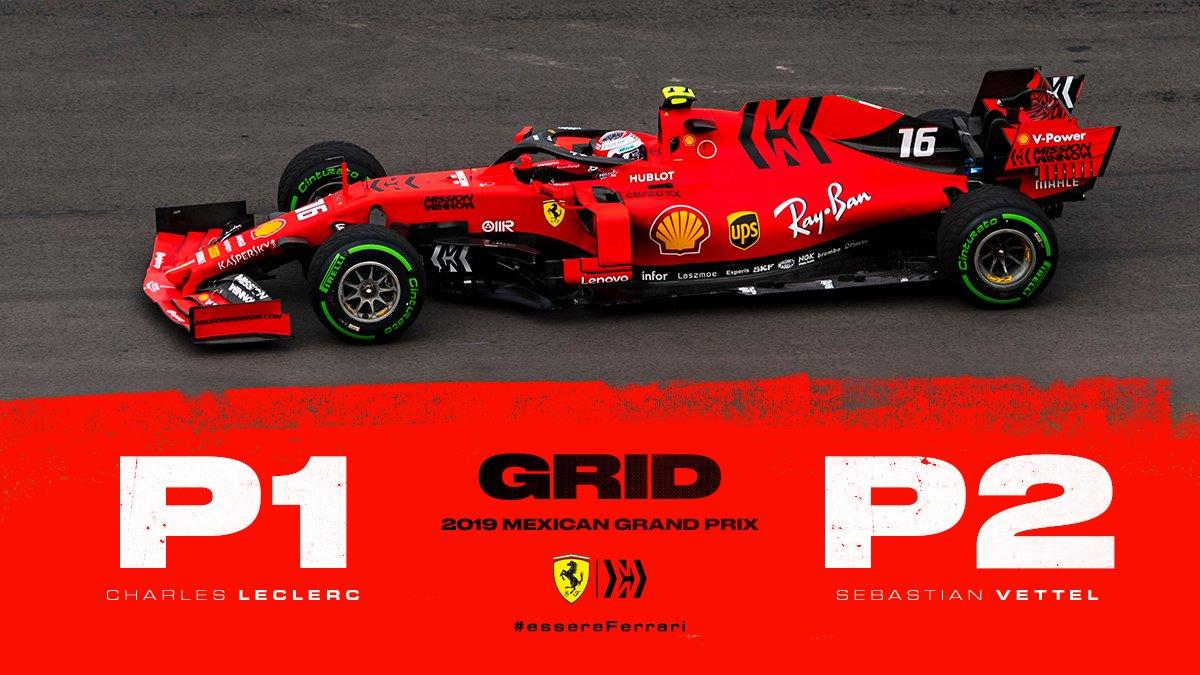 1ère ligne Ferrari au Mexique