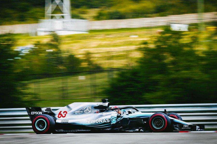 Hungaroring J2: Russell bat le record de la piste