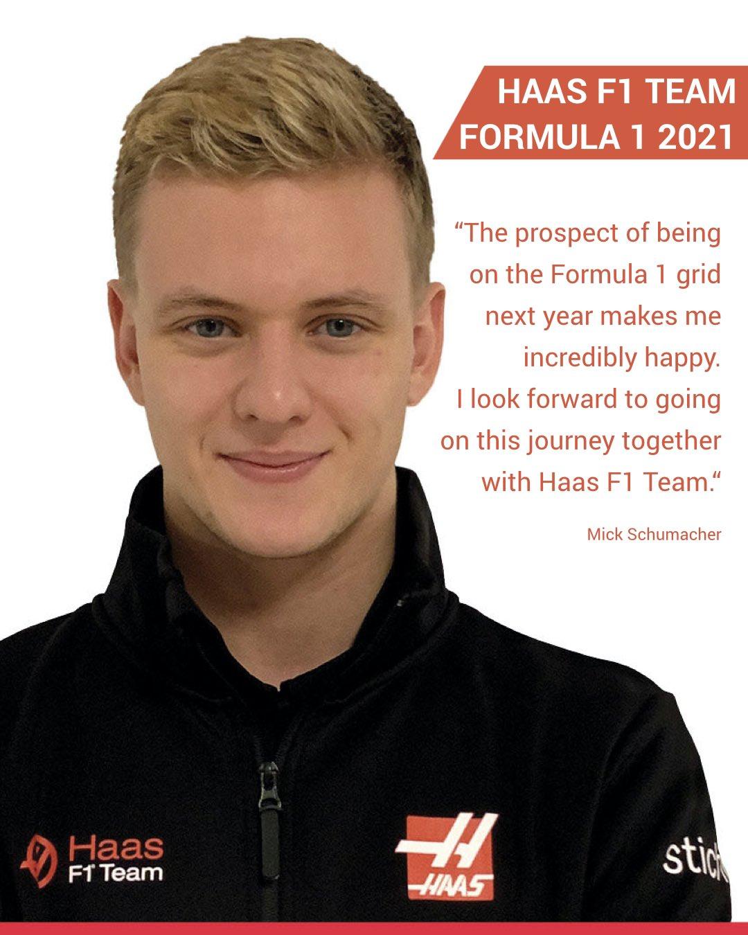 Haas annonce Mick Schumacher pour 2021