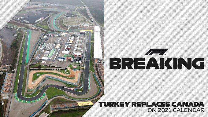 Le Grand Prix du Canada est remplacé par la Turquie