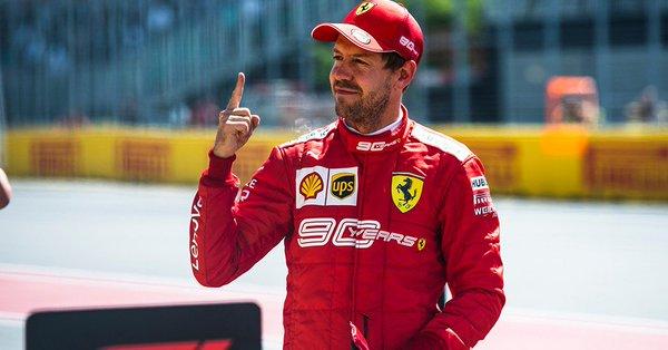 Première pole de l'année pour Vettel